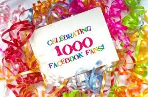 1000 Fans Facebook et concours !!! - Terminé