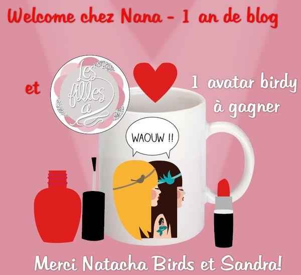 1 an de blog - 1 avatar birdy à gagner, merci Natacha Birds!