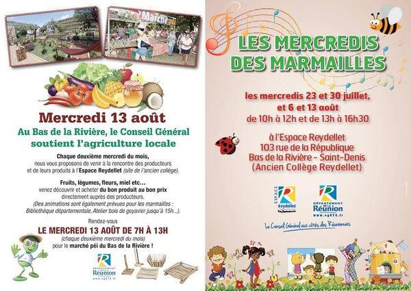 Les mercredi des marmailles à l'espace Reydellet ( St Denis )