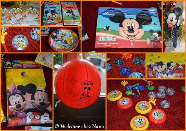 L'anniversaire de mon petit lutin: thème Mickey Mouse