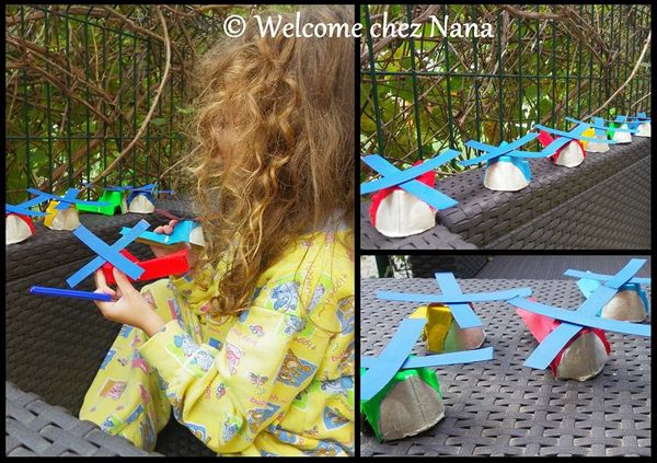 ACTIVITE  : Des hélicoptères DIY (en boîtes à oeufs)