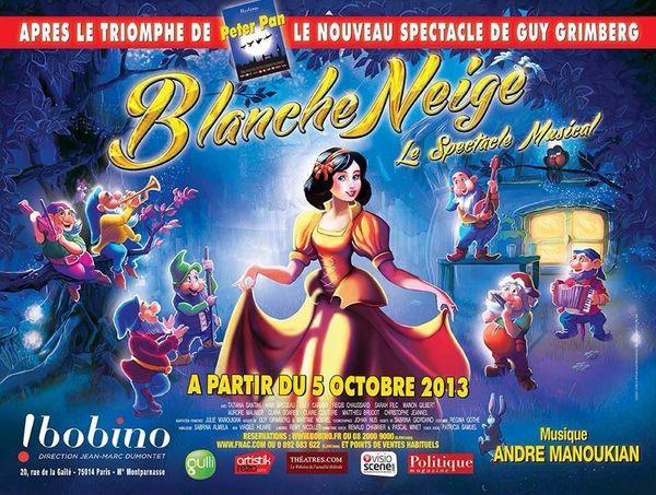 Blanche-Neige, le spectacle musical ou comment faire rêver une princesse....