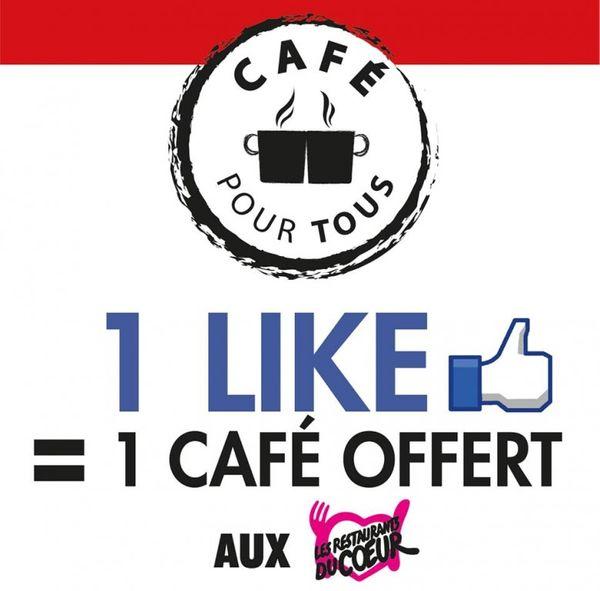 Opération Café Pour Tous pour les Restos du Coeur.