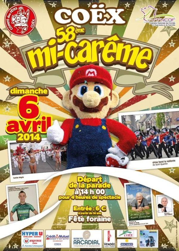 Carnavale de Coëx le 6 et 7 Avril