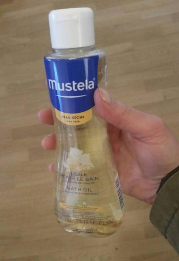 J'ai testé l'huile pour le bain de #Mustela !!
