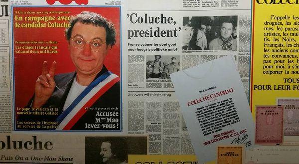 Exposition gratuite sur Coluche à voir et à revoir !!