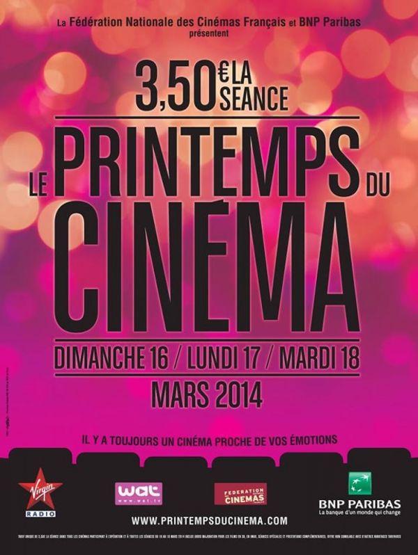 Le printemps du Cinéma 2014 !