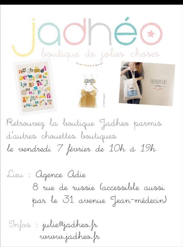 Attention les Niçois la jolie boutique Jadheo débarque demain !!