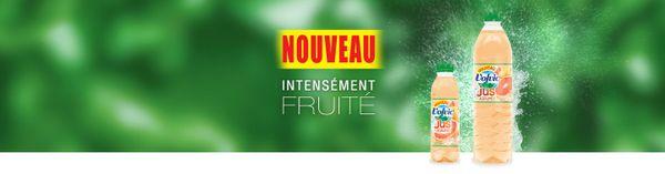 VOLVIC au jus de fruits: testé et approuvé par toute la famille :)