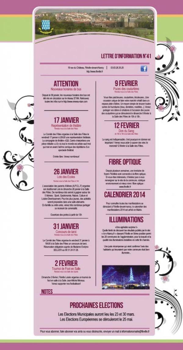 Lettre information mairie de Fléville n°41