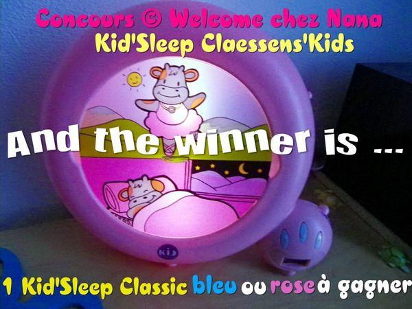 Résultat concours Kid'Sleep :) Merci Claessens'Kids!