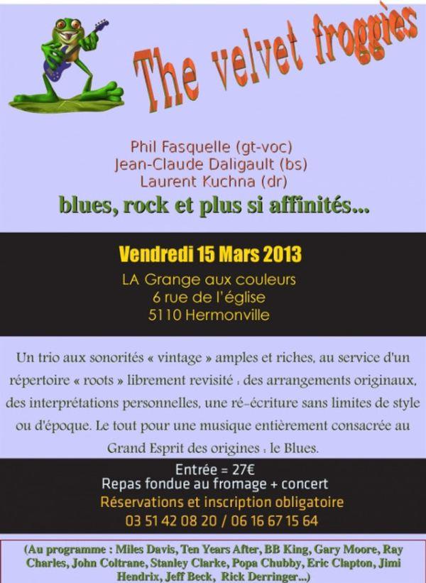 Sortir pres de Reims Diner concert .