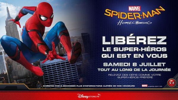Journée spéciale SPIDERMAN à Disney Store.