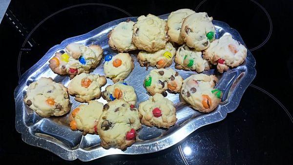 Recette de cuisine: Cookies au m&m's