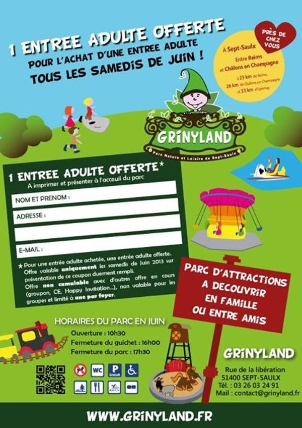 WE de juin bon plan a grinyland près de Reims