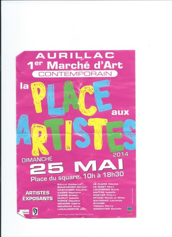 Aurillac 1er marché d'art contemporain dimanche 25 mai 2014