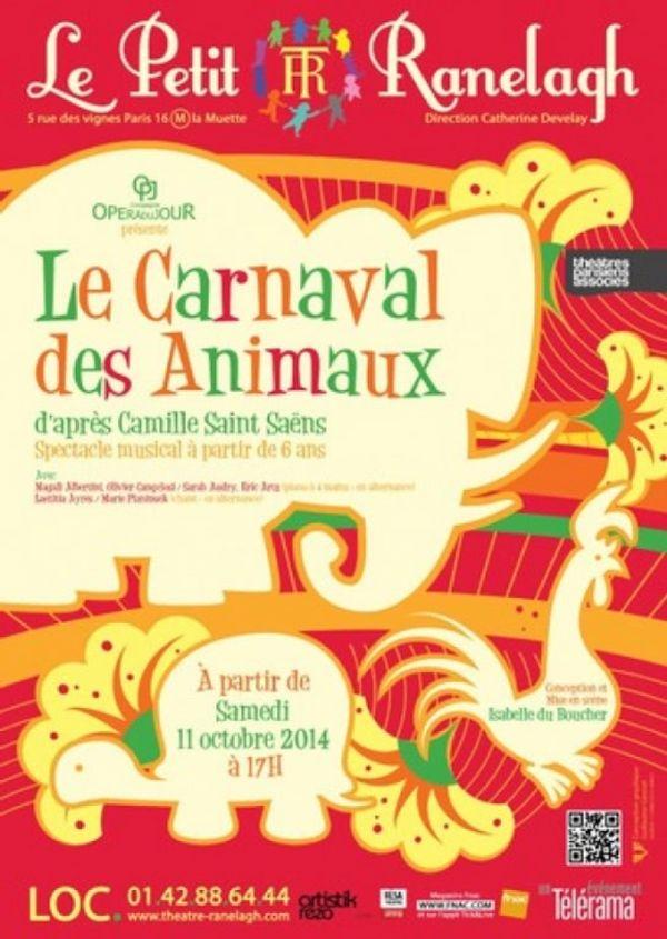 SORTIE: Le carnaval des Animaux au Petit Ranelagh.