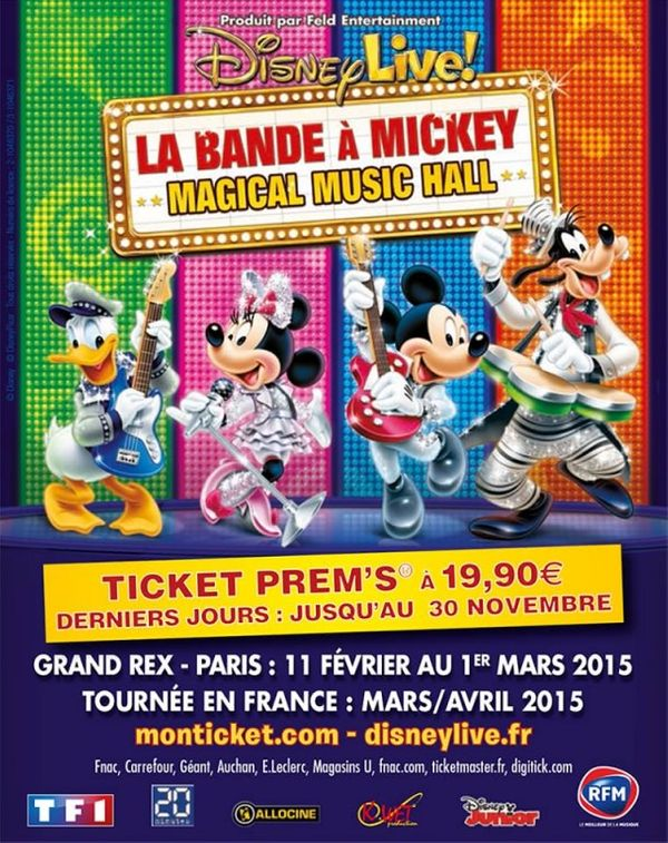 SPECTACLE: Disney Live 2015, La Bande à Mickey!!! + 4 places à offrir