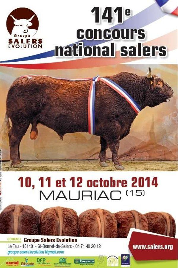 141 ème concours national salers ! Mauriac, Cantal - 10,11 et 12 octobre 2014