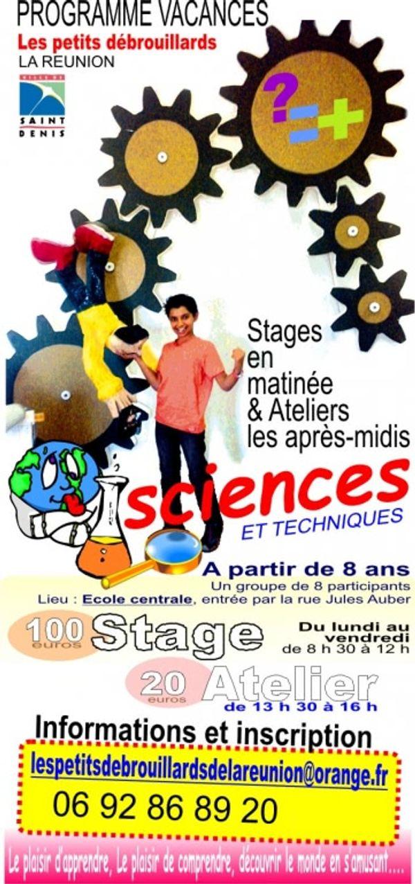 Stages et ateliers les petits débrouillards