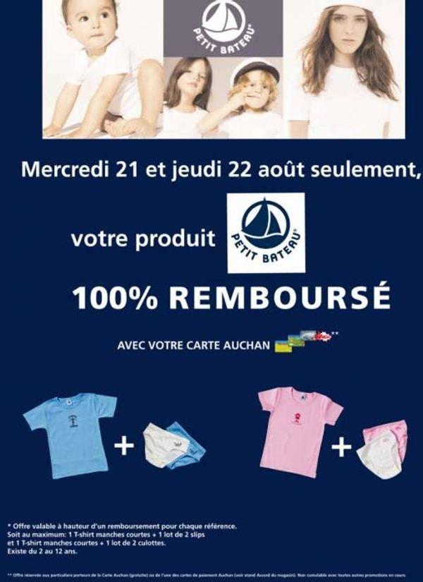 Un bon plan Petit Bateau et Auchan