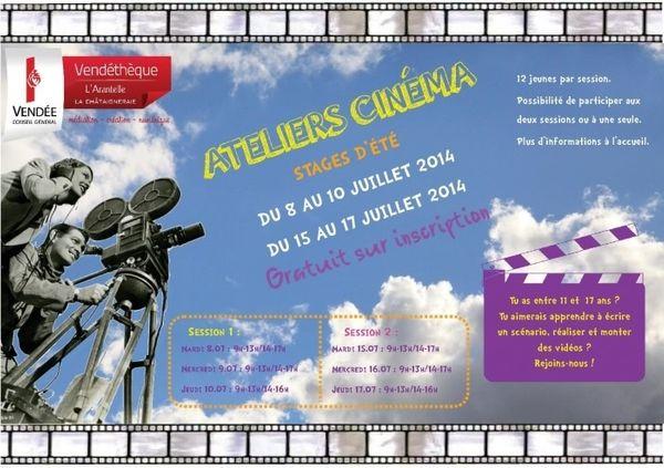 Stage spéciale cinéma Vendéthèque La Chataigneraie