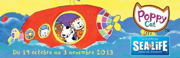 Idée sortie vacances de la Toussains : les ateliers ludiques Poppy Cat à l'aquarium Sea Life de Marne la Vallée