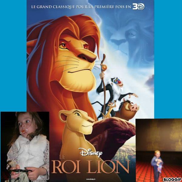 Le Roi Lion en 3D....mon Disney préféré avec mes loulous :)