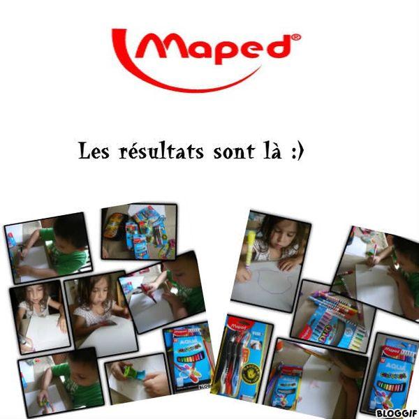 Les heureux gagnants du concours MAPED sont attendus sur le blog!!