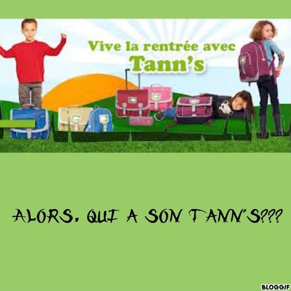Alors qui à son Tann's??? Résultats du concours :) :)