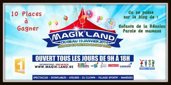 Pour bien commencer l'année, Magikland vous gâte !