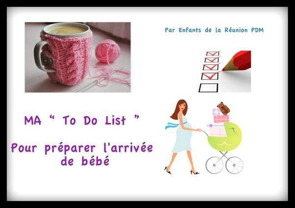 Et si on préparait l'arrivée de bébé : MA To Do List