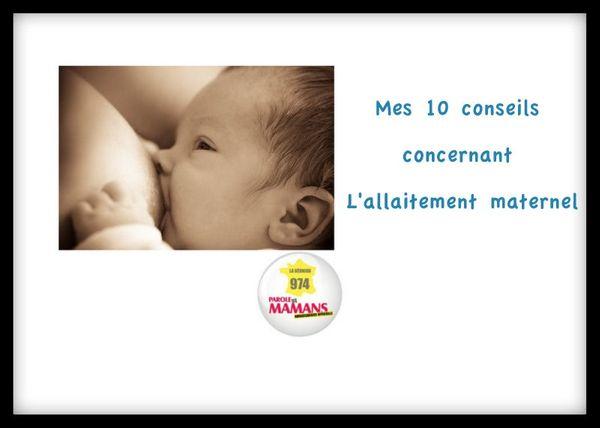 10 conseils utiles sur l'allaitement