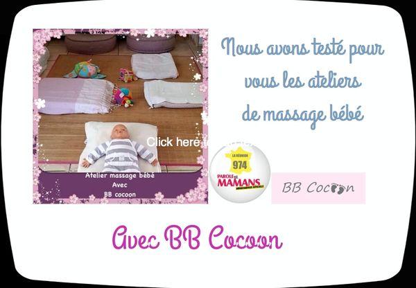 Les ateliers massage bébé avec BB Cocoon