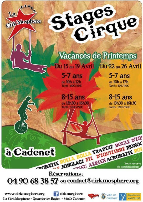 Stage Cirque Vacances de Printemps CADENET