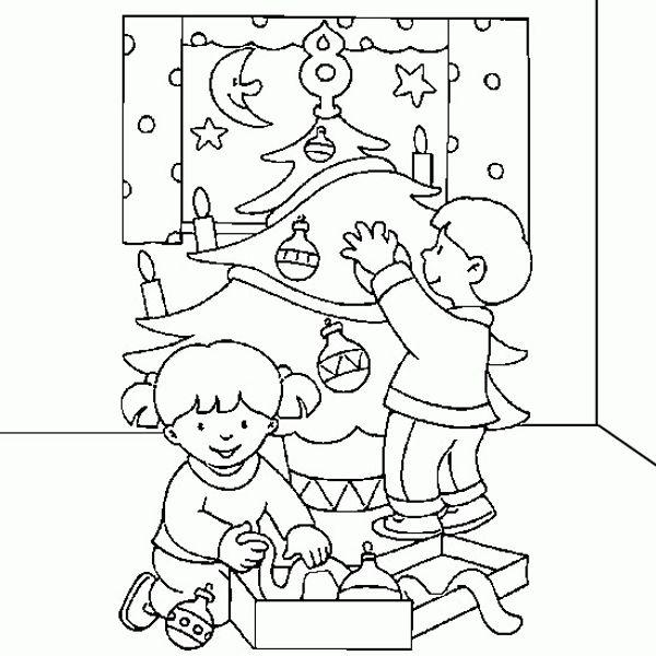 Activité coloriage pour les vacances de Noël
