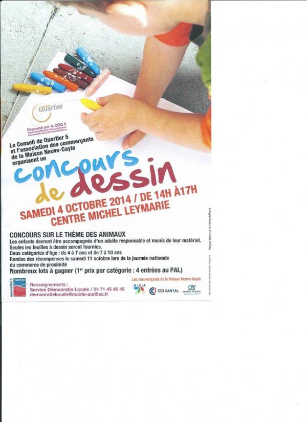 Concours de dessin Centre Michel Leymarie samedi 4 oct 2014 Aurillac