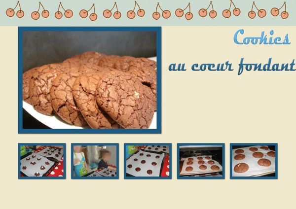 Cookies au coeur fondant à la guimauve