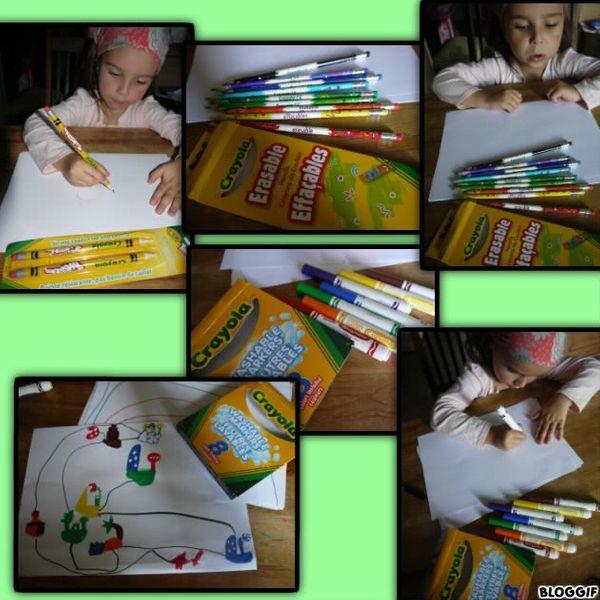 Pour faire de beaux dessins: CRAYOLA, pour les colller: UHU ( + concours)