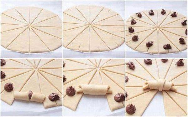 croissant au nutella : simple, rapide et gouteux