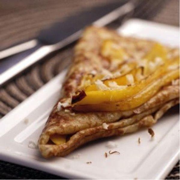 Crêpes au beurre de mangue-nougat