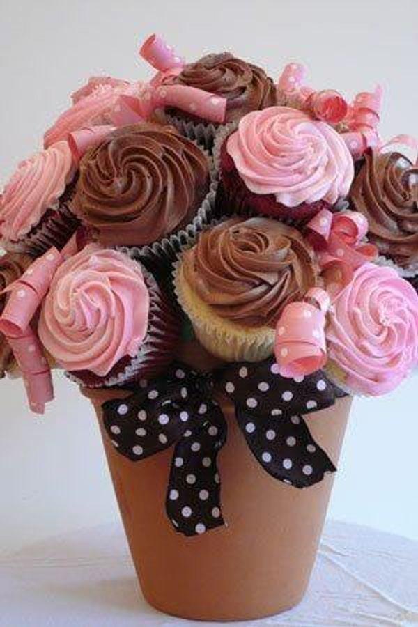 Un bouquet de cupcakes : une idée superbe et originale à offrir pour la fête des mères ou tout autre occasion !