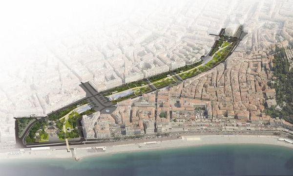 Inauguration de la coulée verte à Nice le 26 Octobre dernier