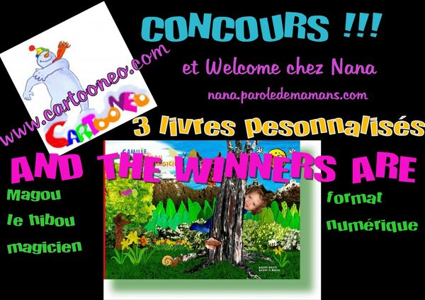 And the winners are ...(Concours CARTOONEO)