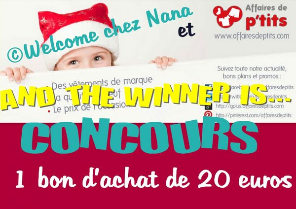 And the winner is ... (Concours AFFAIRES DE P'TITS)