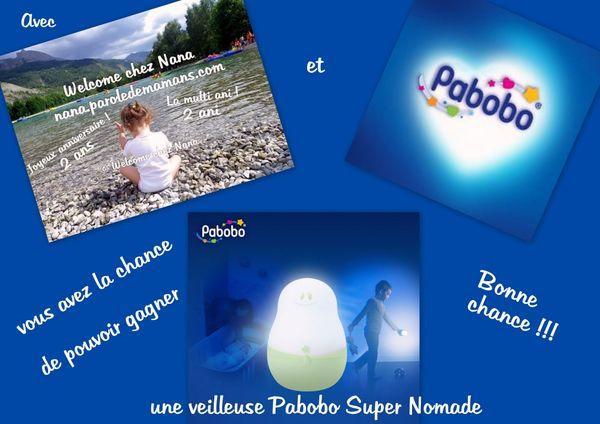 CONCOURS: Welcome chez Nana *2 ans* une PABOBO SUPER NOMADE