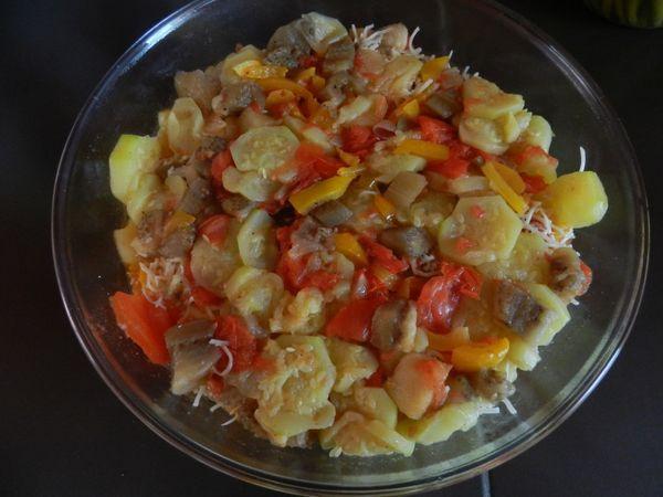 Et hop un petit gratin de légumes bourré de vitamines !