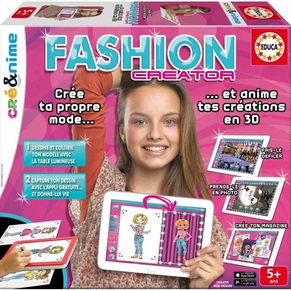 Devenir une styliste avec Fashion Creator d'Educa + cadeau