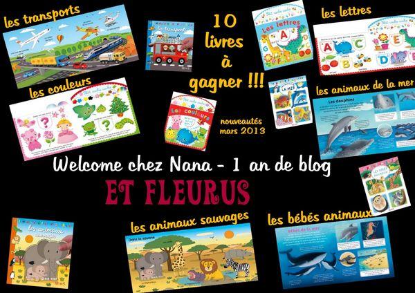 1 an de blog - concours FLEURUS, 10 livres à gagner