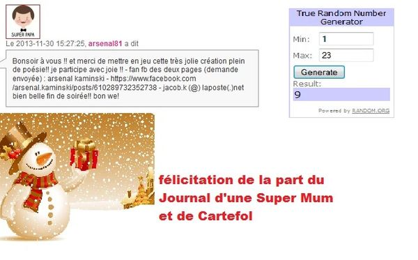 Resultat concours n°6